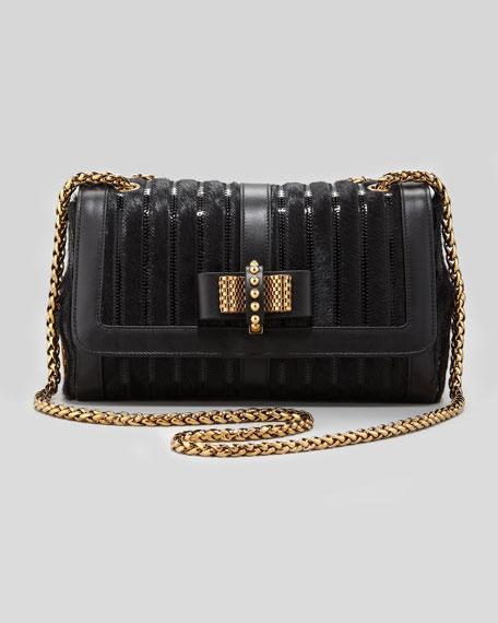 Sweet Charity Calf Hair Shoulder Bag, Black