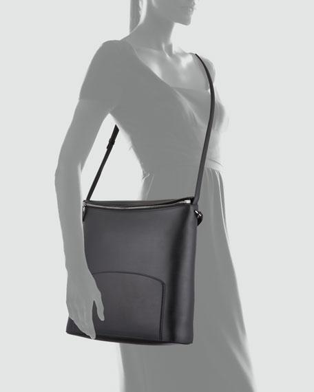 Leather Crossbody Bag, Black