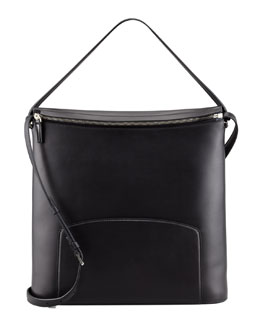 THE ROW Leather Crossbody Bag, Black