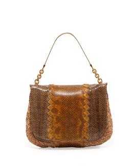 Bottega Veneta Small Snake Flap Shoulder Bag, Multi