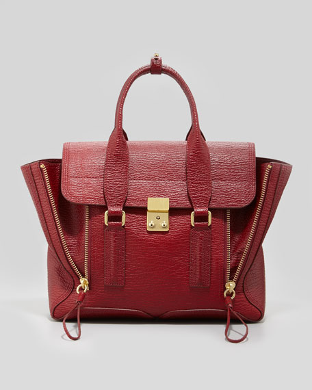 Pashli Medium Satchel Bag, Red