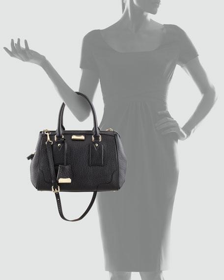 Padlock Satchel Bag, Black