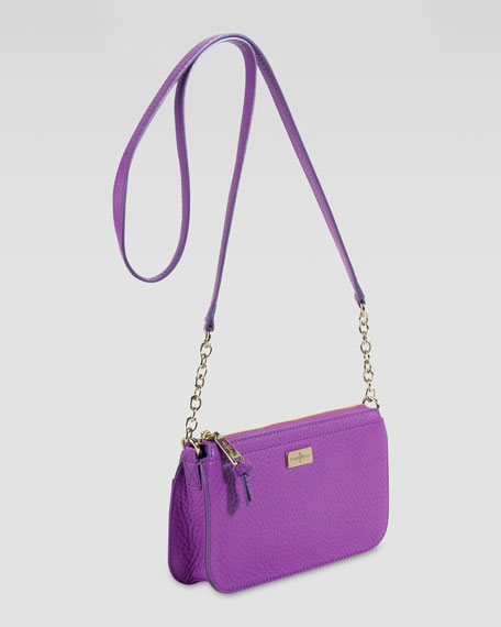Village Slim East-West Crossbody Bag, Purple