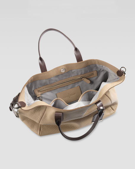 Small Crosby Leather Shopper, Sand