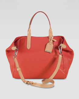 Cole Haan Small Crosby Leather Shopper, Orange