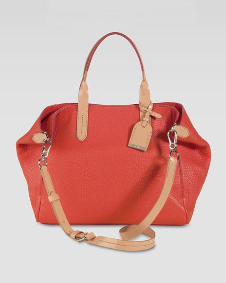 Small Crosby Leather Shopper, Orange