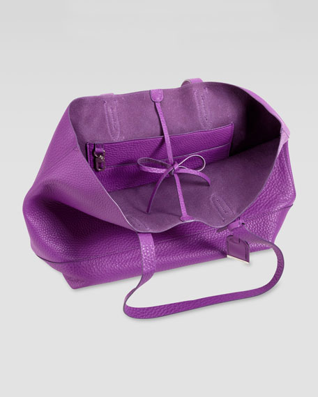 Cole Haan Haven Pebbled Leather Tote Bag, Purple
