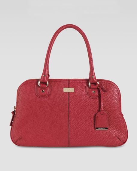 Village East-West Satchel, Cherry
