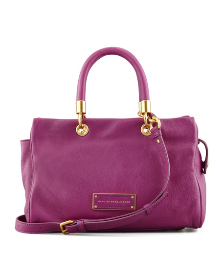 Too Hot To Handle Small Tote Bag, Magenta
