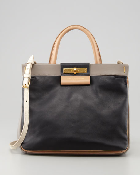 East End Madame Hilli Colorblock Bag, Black