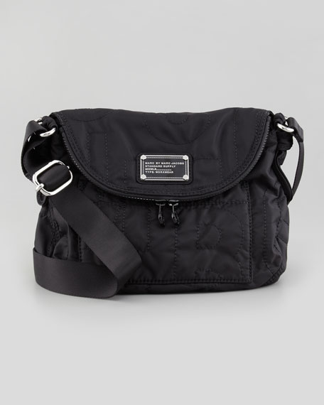 Pretty Nylon Natasha Crossbody Bag, Black