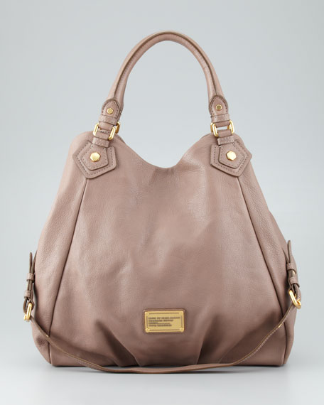 Classic Q Francesca Calfskin Tote Bag, Brown