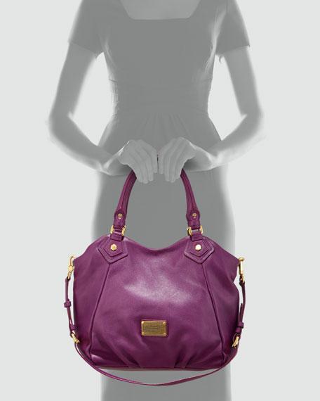 Classic Q Fran Satchel Bag, Purple