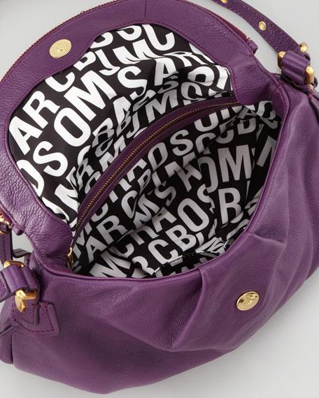 Classic Q Natasha Crossbody Bag, Purple