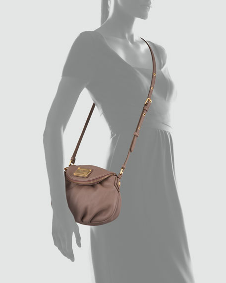 Classic Q Natasha Mini Crossbody Bag, Brown