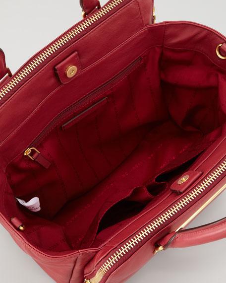 Goodbye Columbus Bucket Tote Bag, Red