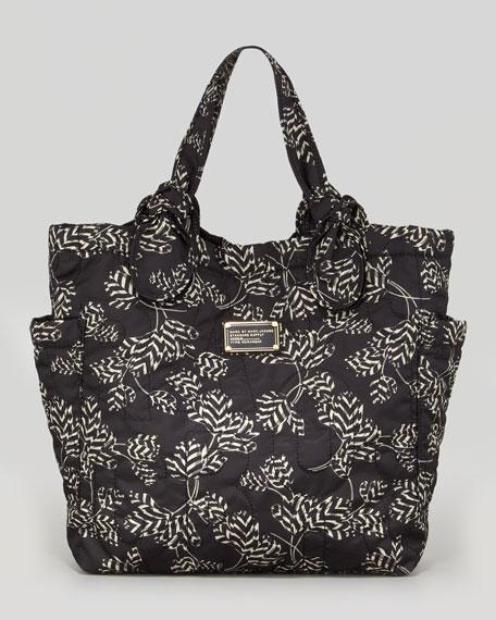 Pretty Nylon Tate Printed Medium Tote Bag, Black