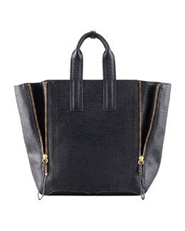 3.1 Phillip Lim Pashli Large Zip Tote Bag, Black