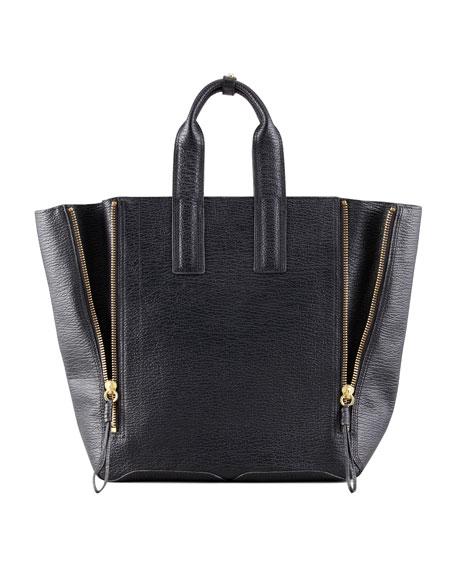 Pashli Large Zip Tote Bag, Black