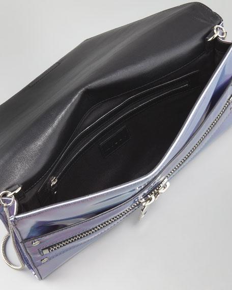 Hologram Demi Clutch Bag, Silver