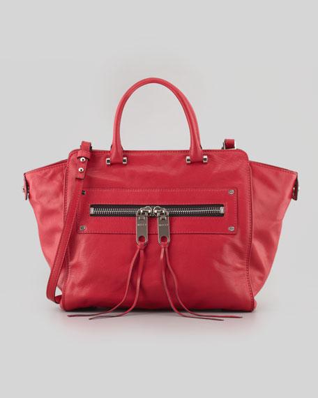 Riley Goatskin Tote Bag, Red