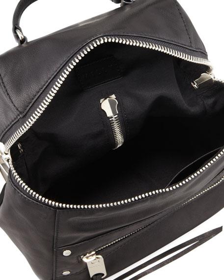 Riley Leather Backpack, Black