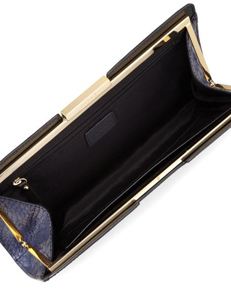 Callan Crocodile-Embossed Clutch Bag