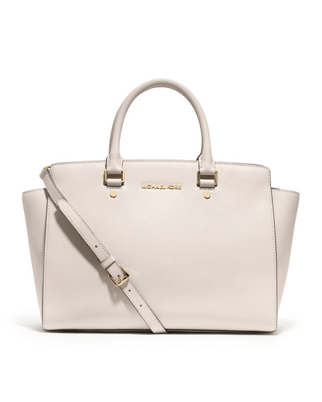 Large Selma Saffiano Top-Zip Satchel