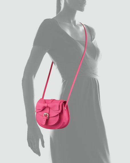 Bow-Flap Crossbody Bag, Pink
