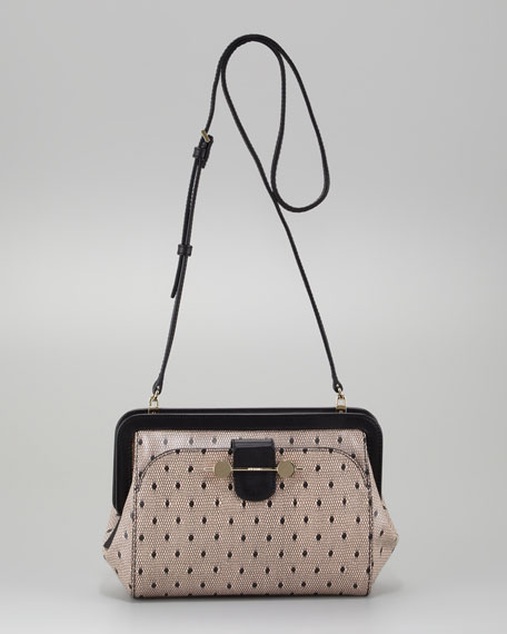 Daphne Lace-Print Crossbody Bag