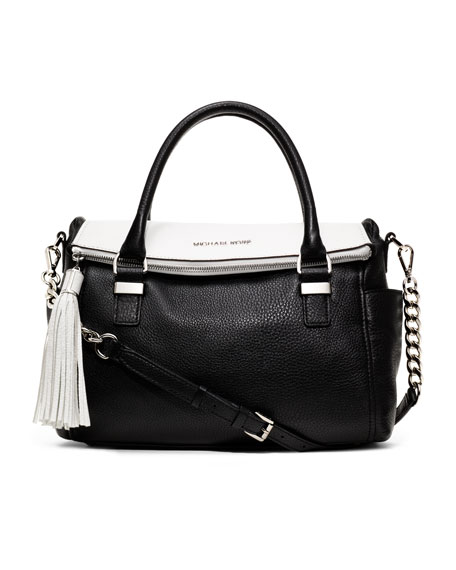 Medium Bedford Tassel Two-Tone Satchel