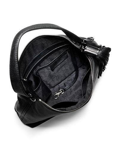 Medium Weston Pebbled Shoulder Bag 92