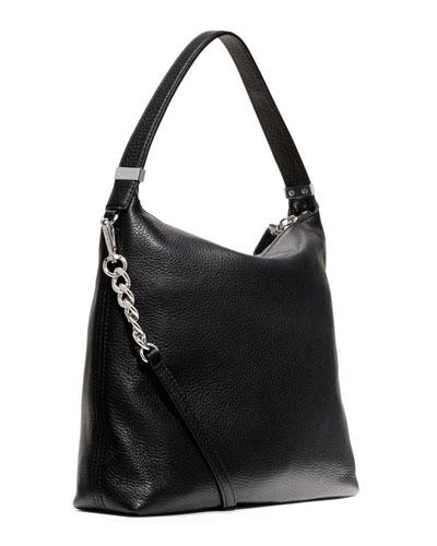 Medium Weston Pebbled Shoulder Bag 56
