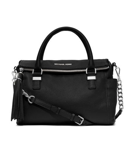 Medium Weston Pebbled Satchel