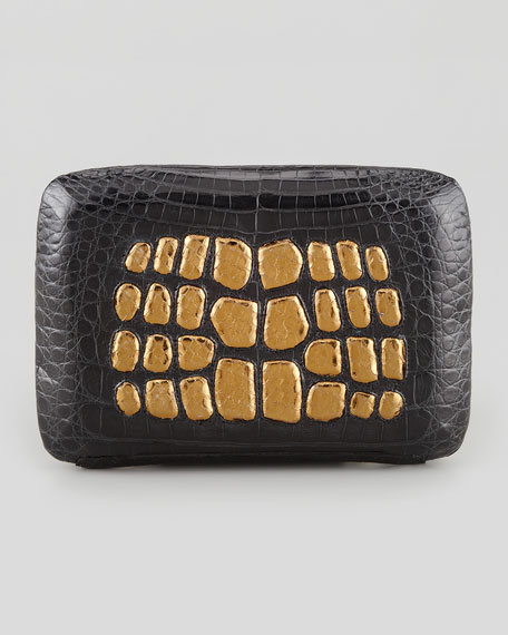 Crocodile and Metallic Python Minaudiere