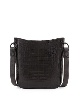 Nancy Gonzalez Crocodile Crossbody Bag, Black
