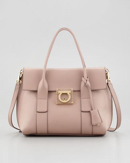 Sookie Small Flap Satchel Bag, Rose