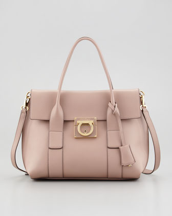 Sookie Small Flap Satchel Bag, Rose