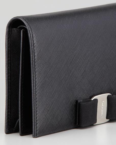 Mini Vara Crossbody Wallet Clutch Bag, Black