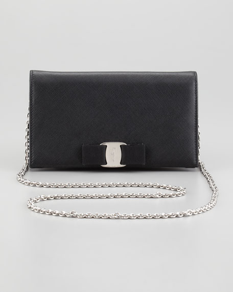 5ea9bea61bea Salvatore Ferragamo Mini Vara Crossbody Wallet Clutch Bag
