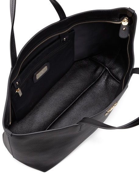 Bice East-West Tote Bag, Black