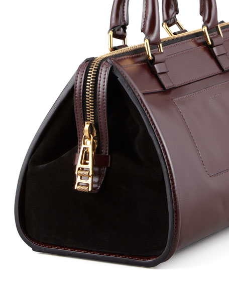 "Catherine ""Box"" Shoulder Bag, Red/Black"
