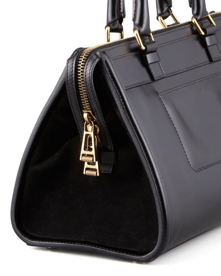 "Catherine ""Box"" Shoulder Bag, Black"