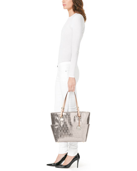 Jet Set Signature Monogram Tote