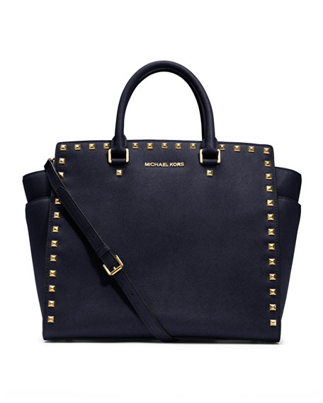 cbe3308761006 ... best price michael michael kors large selma studded saffiano tote a07af  6670f ...