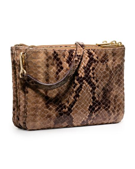 Bedford Gusset Snake-Print Crossbody Bag