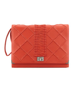 Jason Wu Jourdan 2 Quilted Wristlet Clutch Bag, Red
