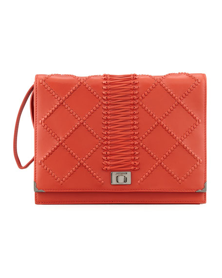 Jourdan 2 Quilted Wristlet Clutch Bag, Red