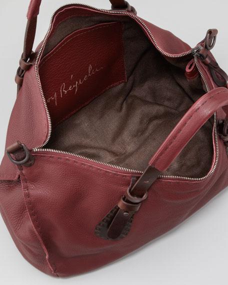 Jane Cervo Satchel Bag, Burgundy