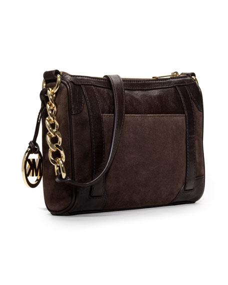 Medium McGraw Leather/Suede Messenger Bag